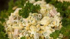 Sałatka pod wódeczkę Tortellini, Pasta Salad, Feta, Potato Salad, Food And Drink, Cheese, Ethnic Recipes, Traditional, Salads