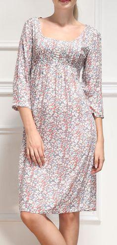 Pink Abstract Empire-Waist Dress