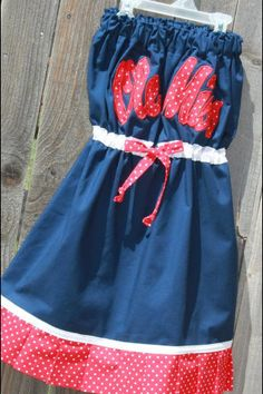 Sports dress idea. I want one but now Ole Miss!!!! So cute!