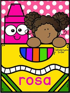 #interactivo para la clase New Classroom, Classroom Themes, Classroom Organization, Preschool Colors, School Labels, Cute Frames, File Folder Games, Teacher Supplies, Color Crayons