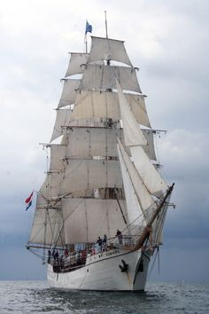 "One of the more magnificent tall ships, the 185' Europa hails from Amsterdam, The Netherlands, and is one of the world's most famous sailing vessels. Built to sail around the globe, Europa has a crew of 10 - 12 professional seafarers and 50 ""guest"" crew members. This is her second voyage into the Great Lakes."