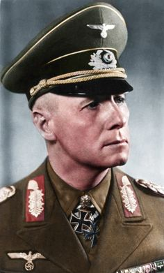 Erwin Rommel. CCW 1940s Colourised Johannes Eugen Rommel (15 November 1891 – 14 October 1944 popularly known as the Desert Fox and also was  one of the plotters involved in the attempt to assassinate Adolf Hitler at the Wolfsschanze in East Prussia on 20 July 1944 and died for it ( Operation Valkyrie)