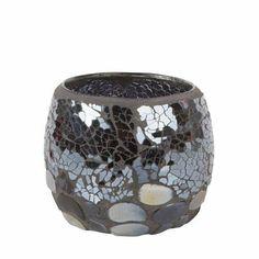 Glitz Pebbles Tea Light Holder Great For Yankee Candles, WoodWick