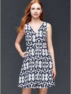 Gap linen fit and flare dress