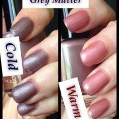 Grey matter Thermal nail polish hand poured by Echoes Polish