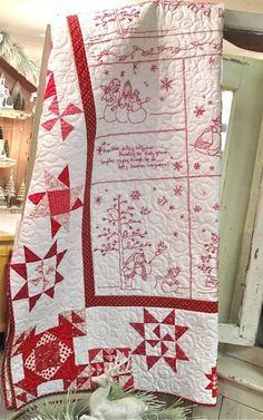 Winter Wonderland quilt kit from Hollyhill Quilt Shop - have a similar pattern -I like the quilting in swirls