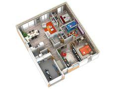 Casa moderna de 3 quartos e garagem