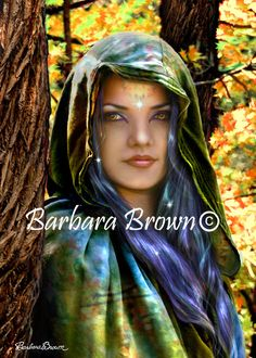 Driad-Blue Haired Witch by Barbara Brown - Fantasy art galleries at Epilogue.net - Fantasy and Sci-fi at their best