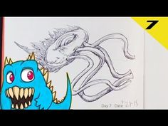 Daily Monster Sketch Journal - Day 7 #sketchmonster #easypicturestodraw   #coolstufftodraw   #howtodrawcoolthings    #funthingstodraw