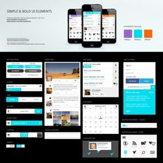 Simple Bold UI Elements