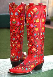 ROCKETBUSTER HANDMADE CUSTOM BOOTS, The Official Website | floral