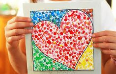 Trendy Pointillism Art Projects For Kids Valentines Day Ideas Kinder Valentines, Valentines Day Activities, Valentines For Kids, Valentine Day Crafts, Valentine Ideas, Kid Activities, Kindergarten Art, Preschool Crafts, School Art Projects