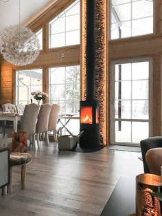 interior home ideas Family Room Design, Interior Design Living Room, Living Room Decor, Home Fireplace, Fireplace Design, Cabin Interiors, Home Decor Inspiration, My Dream Home, House Plans