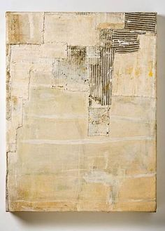 Lawrence Carroll --white mixed media painting
