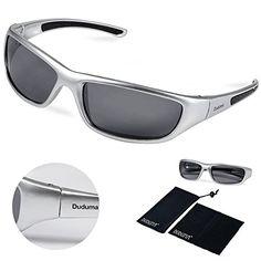 700ebcf0a8d Duduma Tr8116 Polarized Sports Sunglasses for Baseball Cycling Fishing Golf  Superlight Frame (silver frame with