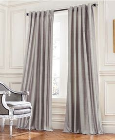 Beacon Looms Window Treatments, Duchess Interlined Silk Collection - Curtains & Drapes - for the home - Macy's Window Treatments, Home, Dining Room Design, Curtains, Curtain Decor, Vista House, Custom Curtains, Room, Shabby Chic Curtains