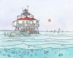 chesapeake bay lighthouse art print