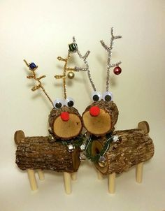 Log Reindeer Reindeer Deer Rustic Decor by DeerwoodCreekGifts, $45.00