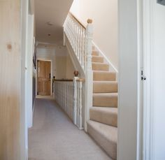 stairs to loft conversion (from outside front bedroom door) Loft Staircase, Staircase Makeover, Staircase Design, Staircase Ideas, Hallway Ideas, Attic Loft, Loft Room, Bedroom Loft, Loft Conversion Plans