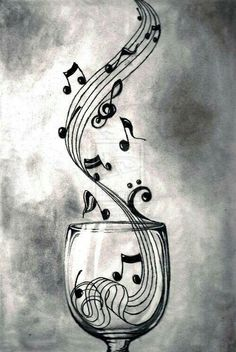 Theme musique, sound of music, music is life, music and art, music notes ar Music Drawings, Pencil Drawings, Art Drawings, Drawing Music Notes, Heart Pencil Drawing, Music Notes Art, Pencil Shading, Musik Wallpaper, Wallpaper Samsung