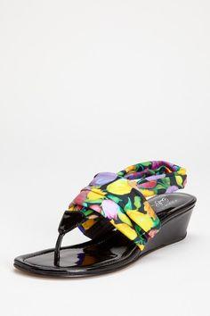 Donald J Pliner Dasan Wedge Thong Sandal