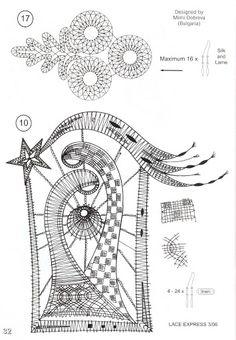 disegni - Sissi Sil - Picasa-Webalben Freeform Crochet, Irish Crochet, Crochet Lace, Crochet Motif, Bobbin Lacemaking, Bobbin Lace Patterns, Crochet Snowflakes, Lace Heart, Point Lace