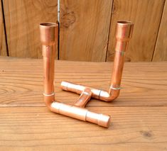 Copper Pipe Candle Holder Industrial Design van MacAndLexie op Etsy