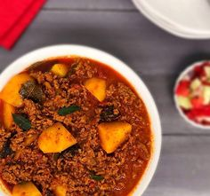 Mince Curry with Potatoes