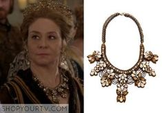 Queen Catherine (Megan Follows) wore this crystal necklace in an episode of Reign.
