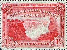 Stamps of Rhodesia 1905 British South Africa Company Victoria Falls