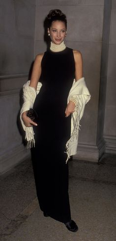 Christy Turlington au gala du Met à New York en 1992