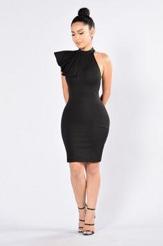 Ruffle Butter Dress - Black