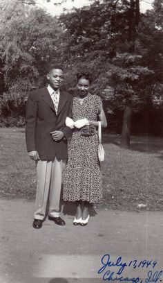 Our First Date July 17, 1949, Chicago, IL [Colter Family Album] ©WaheedPhotoArchive, 2012