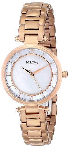 Amazon.com: Bulova Women's 97L124 Stainless Steel Bracelet Watch: Bulova: Clothing