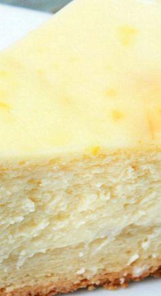 Lemon Cheesecake Recipe - Mostly Homemade Mom Cheesecake Recipe With Cream Cheese, Lemon Cheesecake Recipes, Cream Cheese Desserts, Best Cheesecake, Cream Cheese Recipes, Kinds Of Desserts, Fun Desserts, Delicious Desserts, Lime Recipes