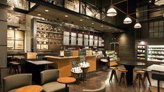 Starbucks TI Terry and Republican Design Suites, Lounge Design, Bar Lounge, Cafe Design, Store Design, Best Interior Design Websites, Coffee Shop Interior Design, Interior Design Living Room, Cafe Restaurant