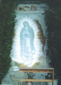 When the photograph was developed it revealed a luminescent image of Our Lady of Guadalupe hovering in front of the mosaic.