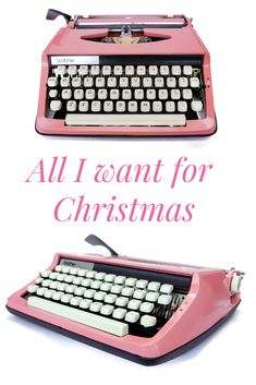 A Pink Typewriter for Christmas please Santa! This Bubblegum Pink typewriter is just the thing for a fantastic Christmas gift this year! Modern Typewriter, Working Typewriter, Antique Typewriter, Vintage Typewriters, I Cup, User Guide, Bubblegum Pink, Pink Gifts, Bubble Gum