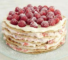 Swedish Pancake Raspberry Stack Cake