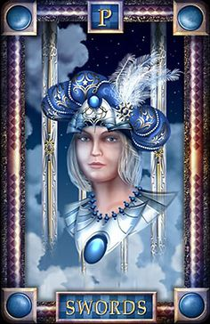 Le valet d'épées - Tarot of Dreams par Ciro Marchetti