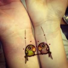 Cute tattoo for Lovers, Best Friends, Sisters