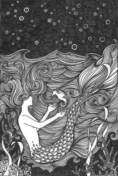 Seahorse print by PiqueStudios on Etsy