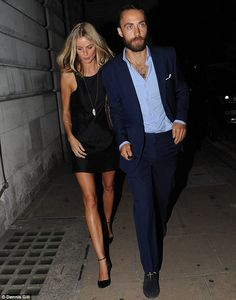Donna Air with increasingly bearded James Middleton