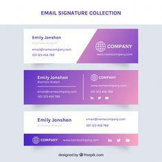 Email signature collection in gradient s. Html Signature, Signature Ideas, Signature Design, Footer Design, Web Design, Graphic Design, Firma Email, Sharepoint Design, Email Footer