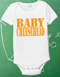 Baby Cheesehead Infant Shirt Lil Packer Fan by FunhouseTshirts, $13.99