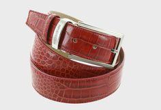 Belt -CROCO Emporio Balzani. Imitation crocodile effect. www.chemiseweb.com