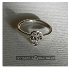 Sterling Silver Day of the Dead Sugar Skull by BoneyardJewellery, £19.99