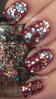 OPI The Living Daylights fall nails