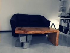 Dokwood coffee table by K - constructions Concrete, Fir wood