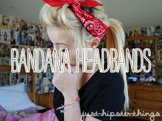 Crazy for Bandanas ♥♥ ... One of my favorite hair's accessory